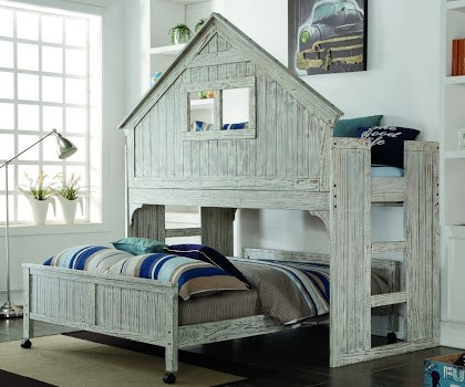Driftwood Clubhouse Loft W Bottom Bed Bunk Bed Sets Bunk Beds