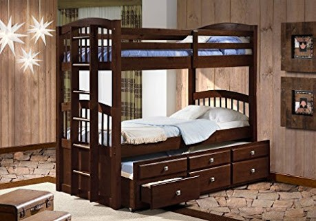 Angelica Captains Trundle Bunk - Cappuccino