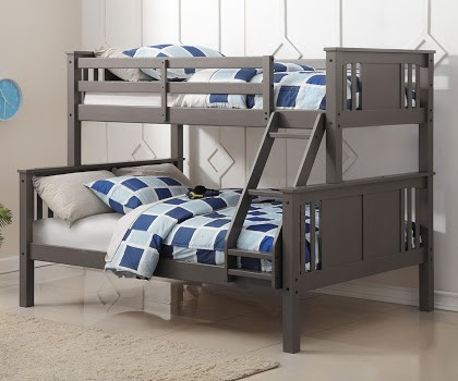 Twin/Full Princeton Bunkbed - Slate Grey