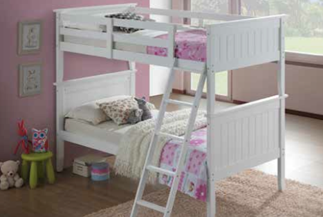 Twin/Twin Panel Bunk Bed - White