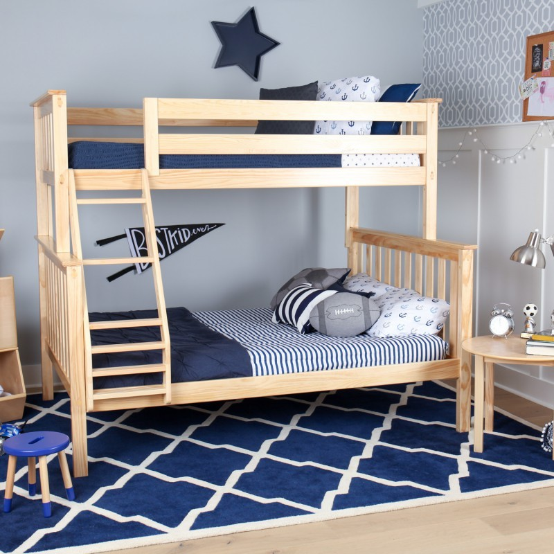 M3 Twin Full Solid Pine Bunk Bed Natural Bunk Bed Sets Bunk Beds
