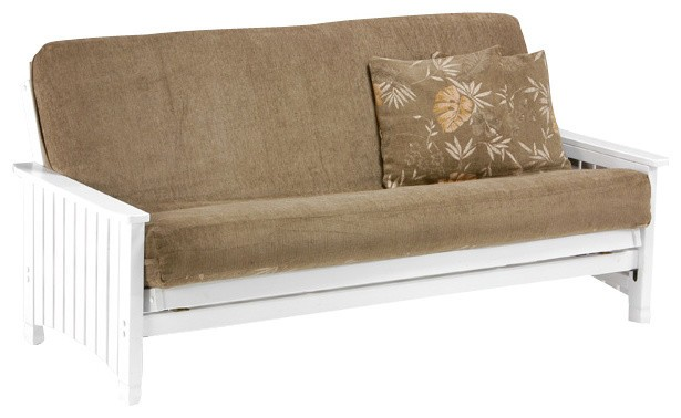 Night And Day Key West Futon Frame   Queen Size   White