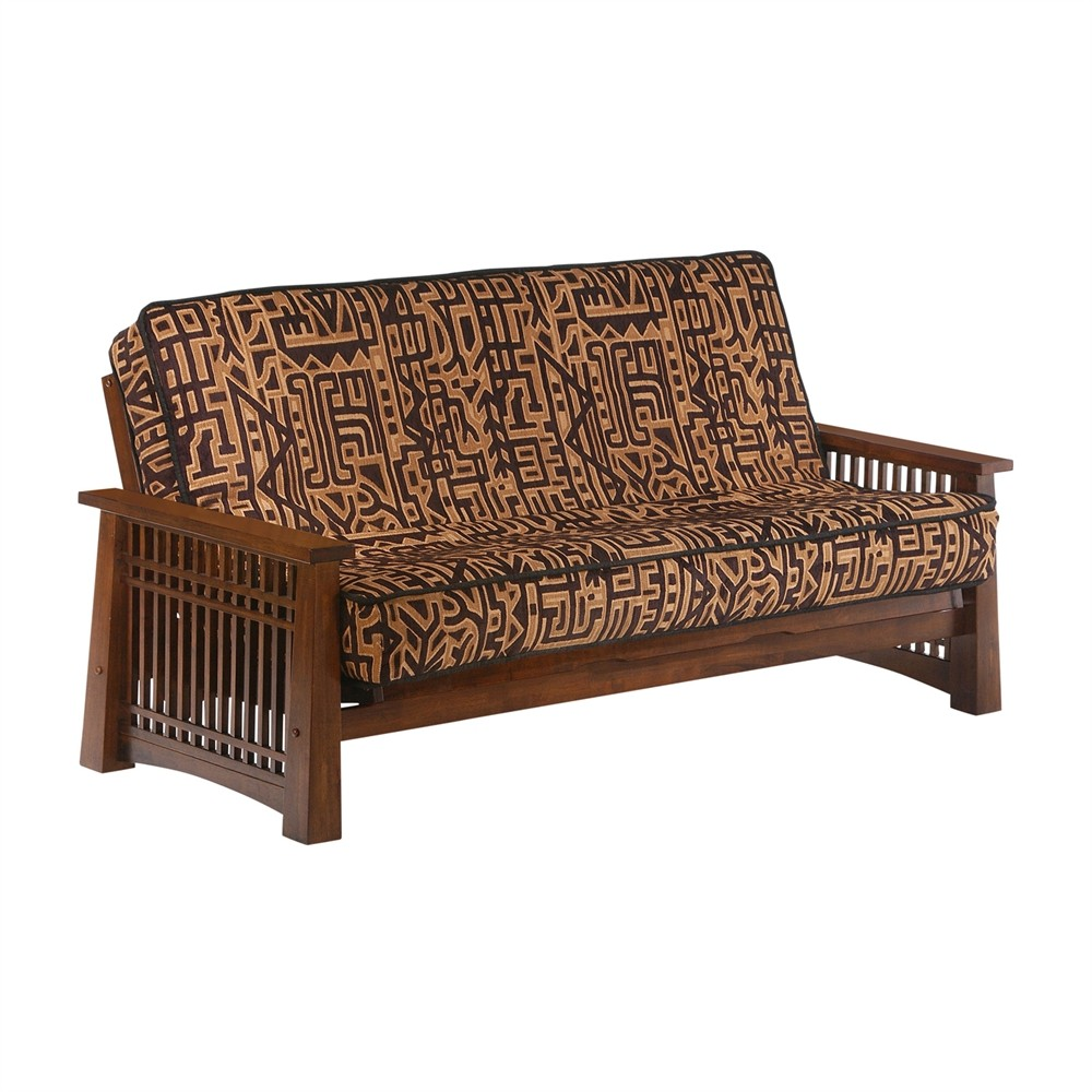 Night And Day Solstice Futon Queen Size Frame Black Walnut Finish Futons
