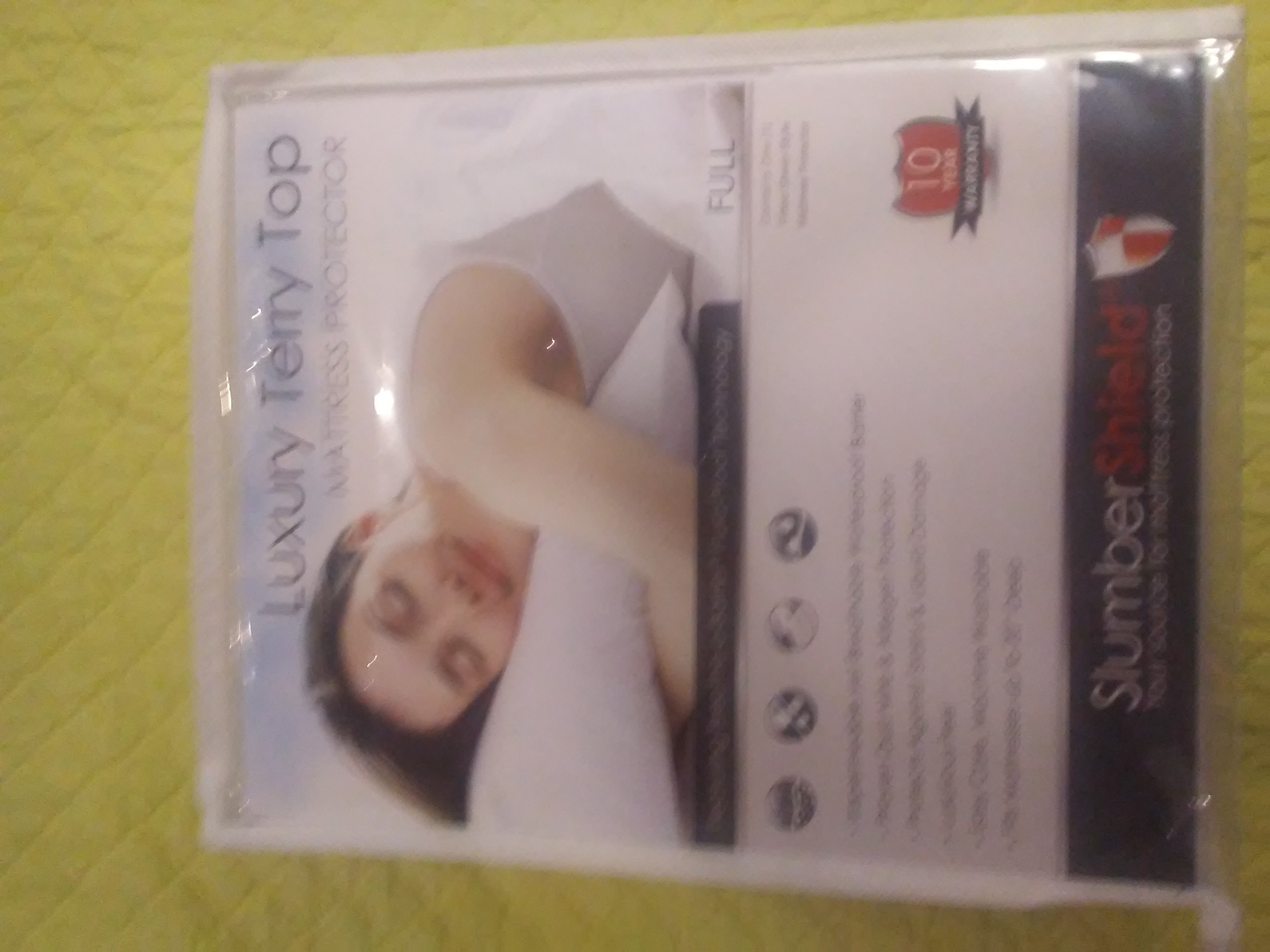 SlumberShield Luxury Terry Top Mattress Protector - Full Size