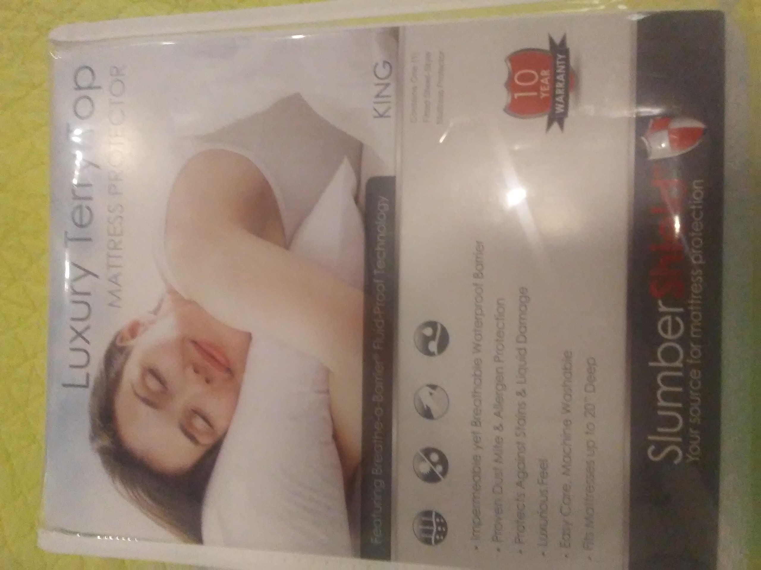 SlumberShield Luxury Terry Top Mattress Protector - King Size