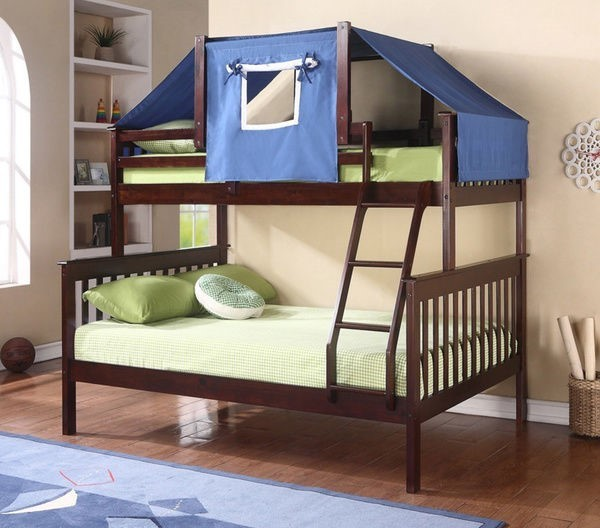 Cappuccino And Blue Bunk Bed Top Tent Bunk Bed Accessories Bunk Beds