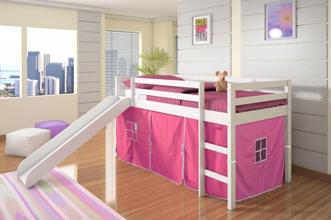Bottom Curtain Pink Bunk Bed Accessories Bunk Beds