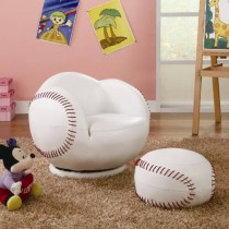 Baseball - Themed Chair and Ottoman