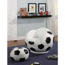 Soccer Ball - Themed Chair and Ottoman