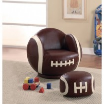 Football - Themed Chair and Ottoman