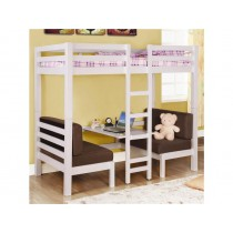 Twin over Twin Convertible Loft Bed in White