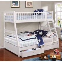 Ashton Bunk Bed - White - Coaster Furniture