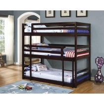 Triple Bunk Bed in Cappuccino