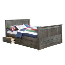 Jordan Full Size Bed - Weathered Grey