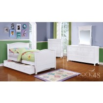 Ashton Twin Bed with Trundle/ Storage - White - Dock48