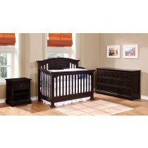Jordan Curved Top Conversion Crib - Graphite