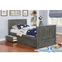 Jordan Twin Size Bed - Weathered Grey