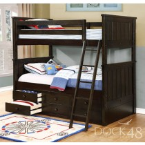 Jordan Twin over Twin Bunk Bed - Espresso