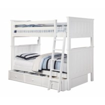 Jordan Twin over Twin Bunk Bed - White