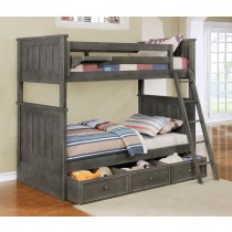 Jordan Twin over Twin Bunk Bed - Weathered Grey