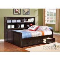 Full Size Sidways Bed w/ 3 Drawer Under Storage - Graphite Grey - Dock48