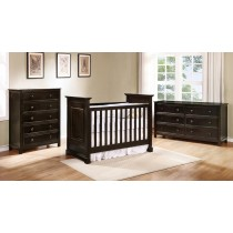 Waterford Basic Crib - Graphite