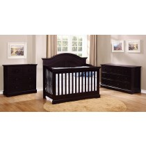 Waterford Curved Top Conversion Crib - Espresso