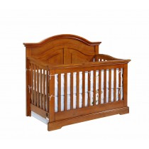 Waterford Curved Top Conversion Crib - Pecan