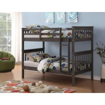 Twin over Twin Mission Bunk Bed - Brushed Grey