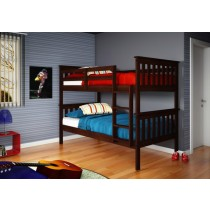 Twin over Twin Mission Bunk Bed - Cappuccino