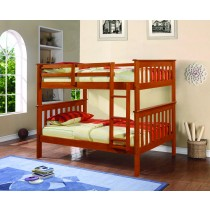 Twin over Twin Mission Bunk Bed - Espresso