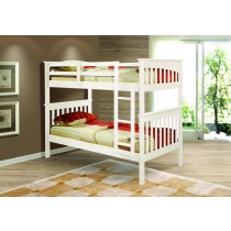 Twin over Twin Mission Bunk Bed - White
