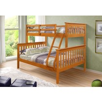 Twin over Full Mission Bunk Bed - Honey