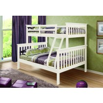 Twin over Full Mission Bunk Bed - White