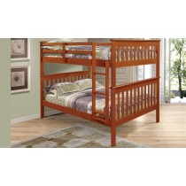 Full over Full Mission Bunk Bed - Espresso