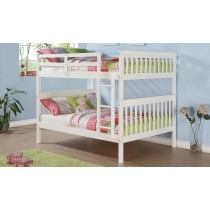 Full over Full Mission Bunk Bed - White