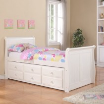 Twin Sleigh Captains Trundle Bed