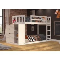 Mission Twin/Twin Chest Bunk - White