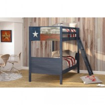 Twin / Twin Lone Star Bunk Bed - Blue