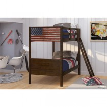 Patriot Twin/Twin Bunk Bed - Mocha