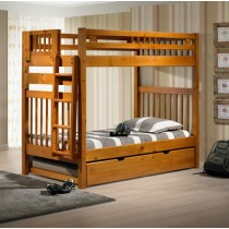 T/T Tall Mission Bunkbed - Honey