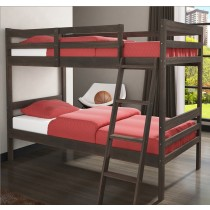 Econo Bunk Bed - Rustic Mocha Walnut