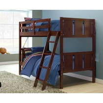 Twin/Twin Panel Bunk Bed - Cappuccino