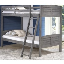 Twin/Twin Louver Bunkbed - Antique Grey