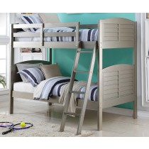 Twin/Twin Shutter Bunk Bed - Platinum Silver