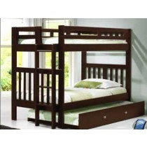 Twin/Twin Mission Bunkbed - Cappuccino