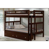 Full/Full Mission Bunk Bed - Cappuccino