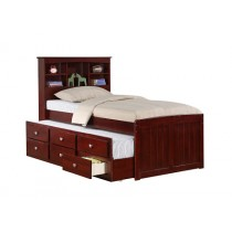 Twin Bookcase Captains Trundle Bed