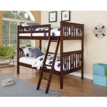 Franklin Bunk Bed - Dark Walnut