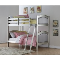 Twin/Twin Hollywood Bunkbed - Platinum Silver